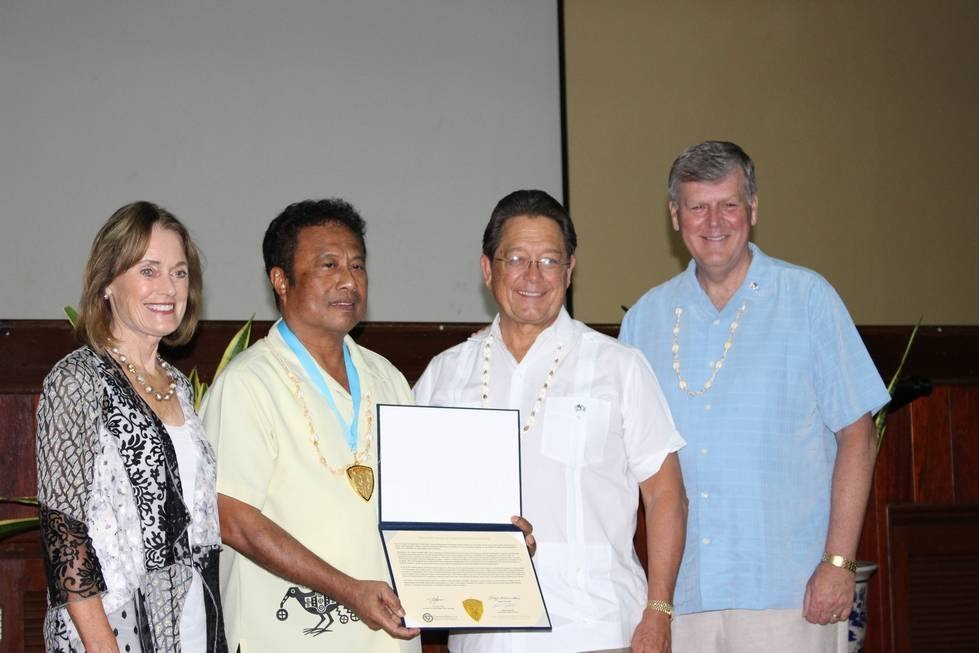 COL RALPH W. HAUENSTEIN FELLOWSHIP AWARD MARCH 2017 - RECIPIENT TOMMY E. REMENGESAU JR., PRESIDENT OF PALAU